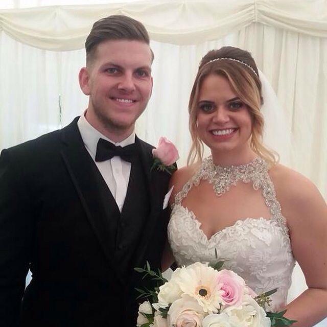 Bride and groom  #Flowers