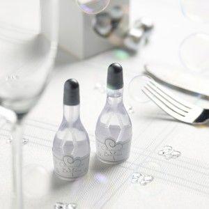 24 Seifenblasen Champagnerflaschen