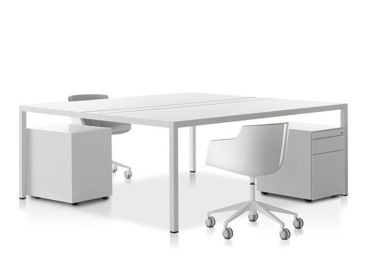 DESK 3.0 Office workstation by MDF Italia design Francesco Bettoni, Bruno Fattorini, Centro Progetti MDF Italia