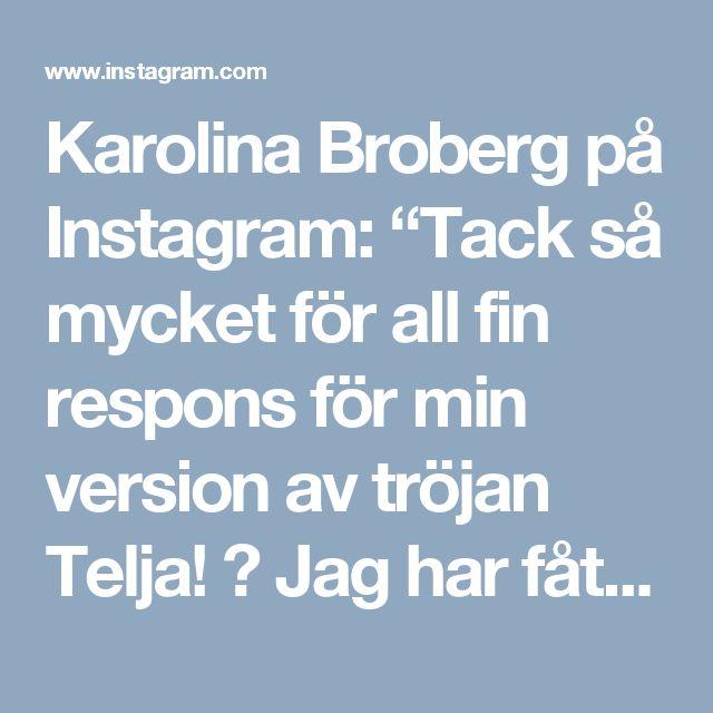"""Karolina Broberg på Instagram: """"Tack så mycket för all fin respons för min version av tröjan Telja! 🙏 Jag har fått lite frågor om var man får tag i mönstret och vilket…"""""""