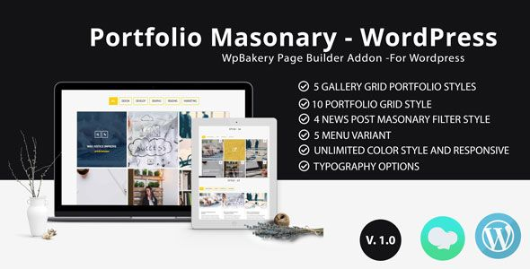XG Portfolio - Grid masonry portfolio filter plugin for