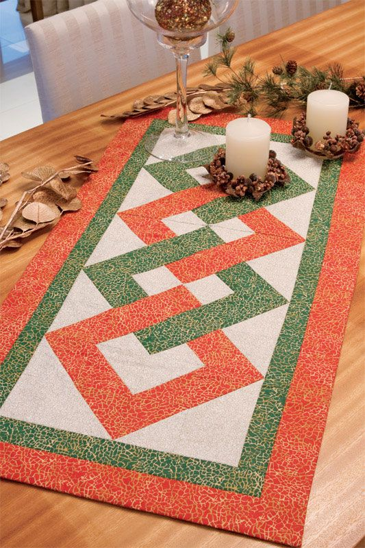 Caminho de mesa natalino, para receber o Noel com estilo