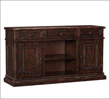 Cortona wood buffet alfresco brown finish brown finish for Furniture 0 interest financing