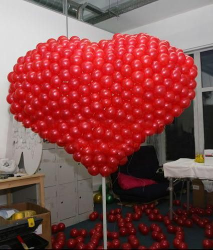 1000 images about valentine day on pinterest valentine for Balloon decoration for valentines day