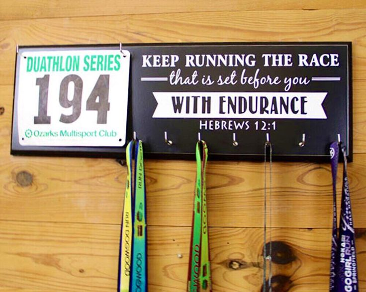A personal favorite from my Etsy shop https://www.etsy.com/listing/168919505/running-medal-holder-and-race-bib-hanger