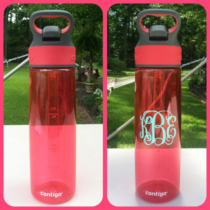 Monogrammed waterbottle DIY!