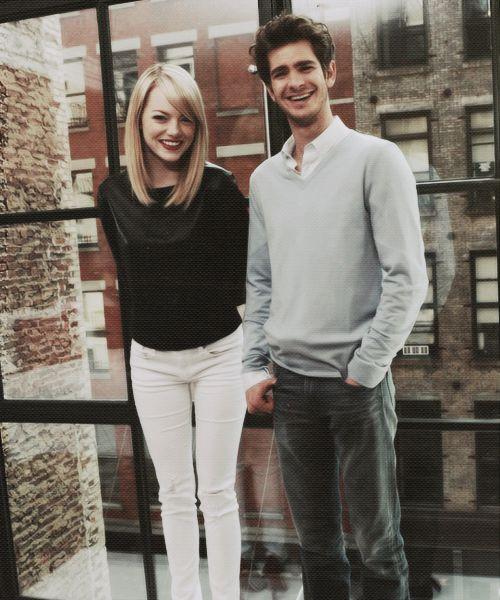 Emma Stone and Andrew Garfield  @Hannah Mestel Mestel Trotter @Rachel Trotter @Jordyn Crane Crane Trotter