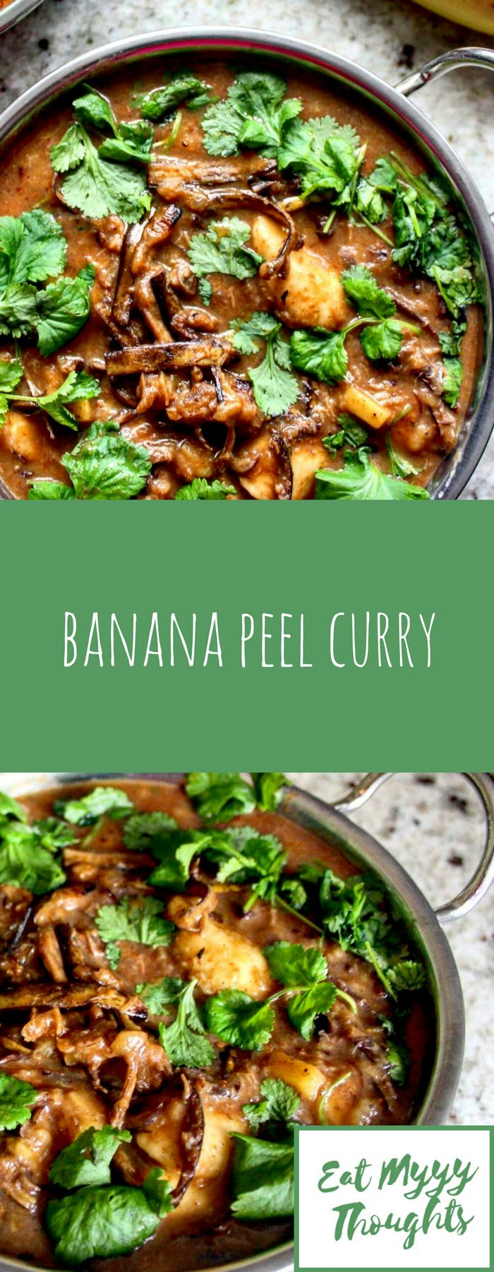 No, I haven't lost my mind! You can eat banana skins! This banana peel curry is a great recipe to reduce food waste. And it tastes amazing!