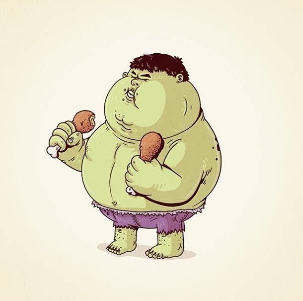 Fat Pop Culture – 26 Illustrations obèses d'Alex Solis ! (image)