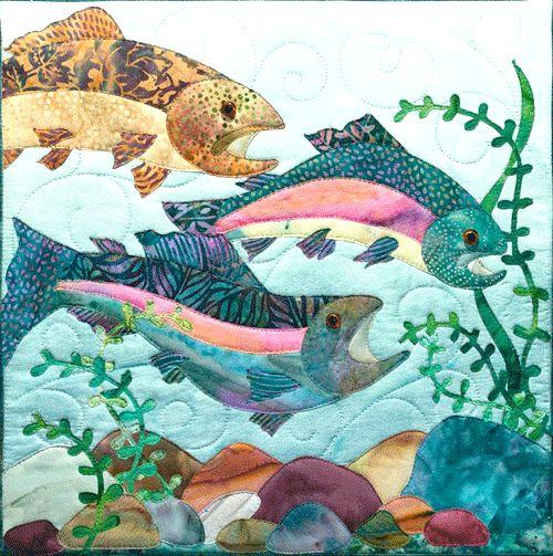 Salmon Bali Dancin Quilt pattern - $11.50