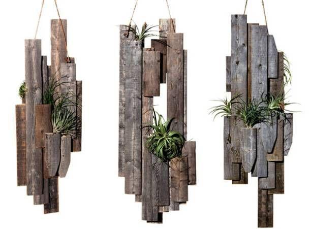 pots à fleurs de style rustique moderne en palettes de bois