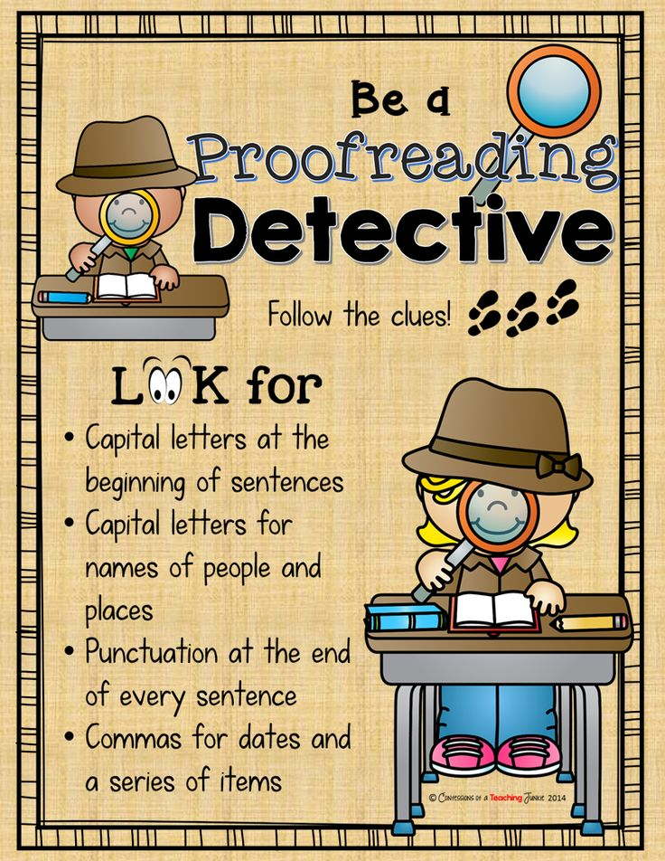 Teaching proofreading