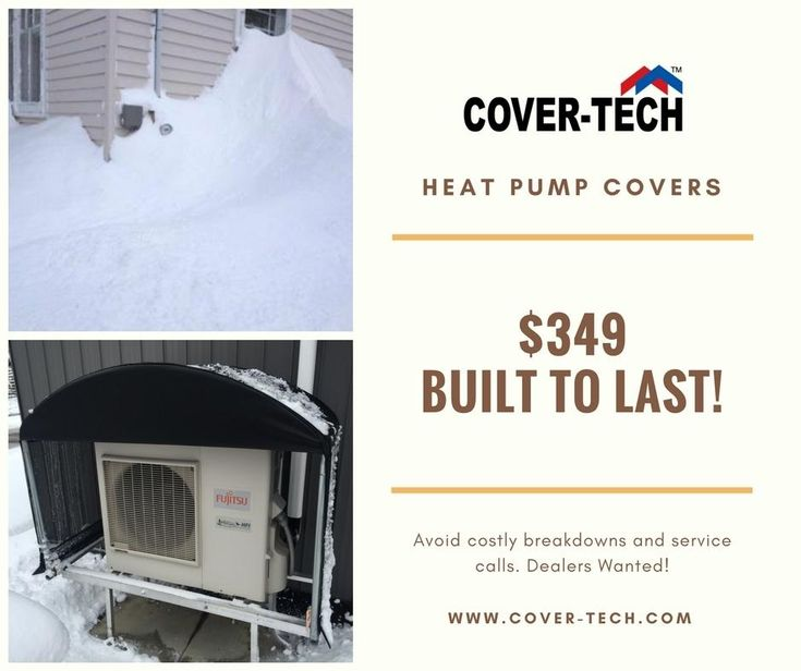They were calling the storm last week a weather bomb. We can't even see the heat pump under all that snow, can you? Cover your heat pumps to avoid costly service calls and improve efficiency for only $349! #heatpump #minisplit #heatpumpcover (3) Cover-Tech Inc.: Company Page Admin | LinkedIn