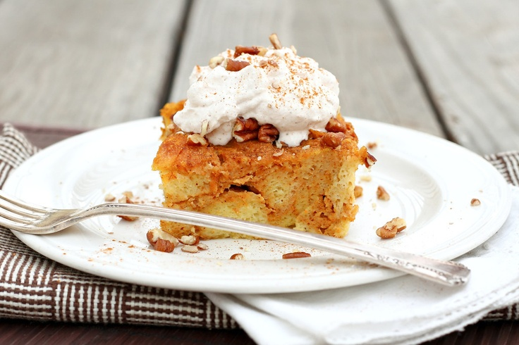 Baked pumpkin french toast with cinnamon whipped cream: Pumpkin French ...