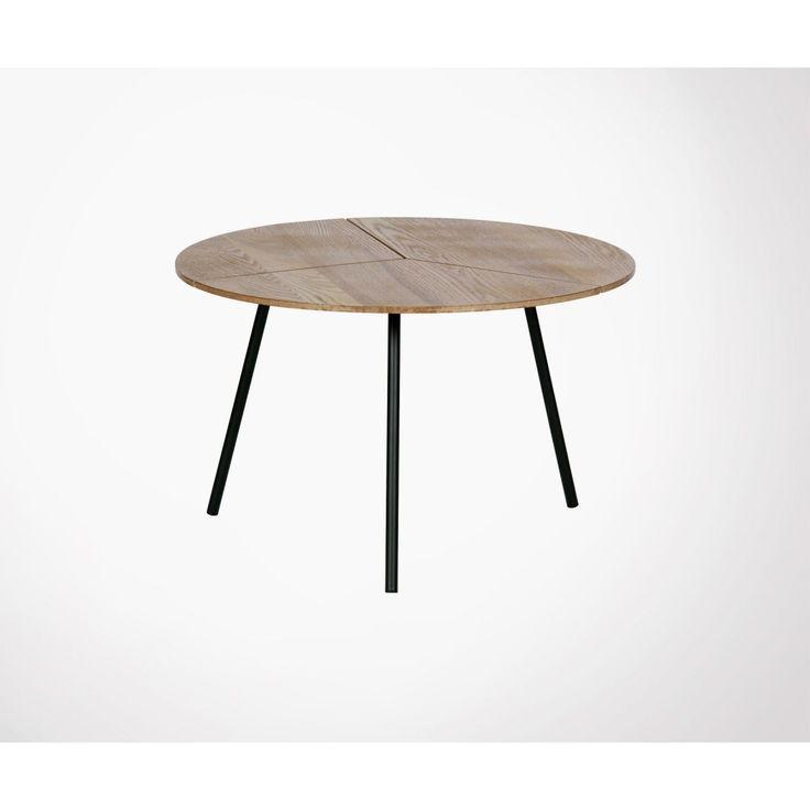 Table Basse Ronde Chene Et Metal 38x60cm Rodi Taille Taille Unique 38x60cm Basse Chene Metal Rodi Ronde Table Taille Table Coffee Table Furniture