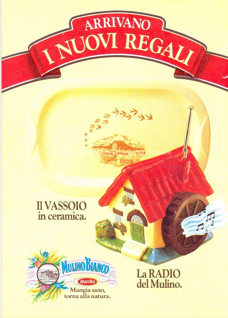 Pubblicita' stampa di lancio della Serie Mulini e del Vassoio del 1988