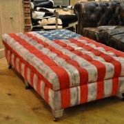 Pouf drapeau américain 6 roulettes Chehoma