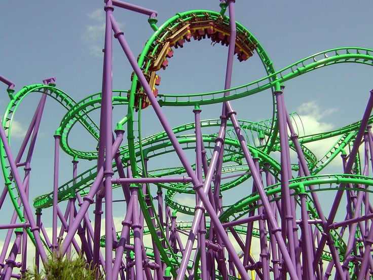 The Joker 39 S Jinx Coaster At Six Flags America In Upper Marlboro Maryland Home State