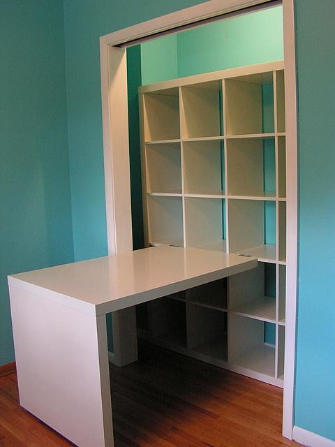 craft closet with ikea shelves desk home sweet home