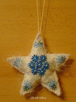 Własnymi rękami- blog o zmaganiach z oporną materią.: Gwiazda, niekoniecznie świąteczna