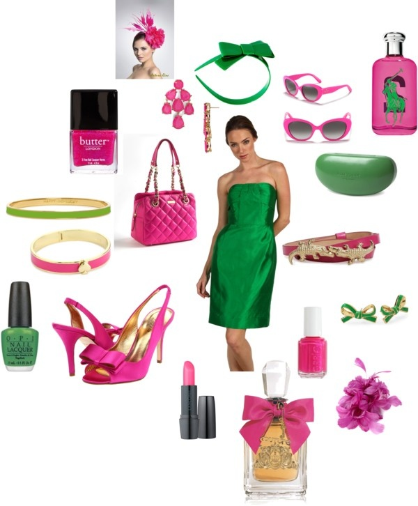 """""""Pink & Green"""" by scrappyjessi on Polyvore: Greenal Things"""
