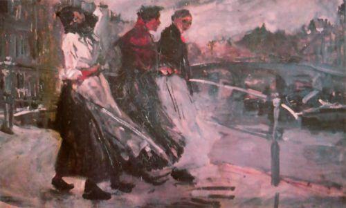 De impressionist George Breitner heeft het Amsterdamse straalbeeld omstreeks 1900 vastgelegd in tientallen schilderijen en een groot aantal foto's (modellen voor zijn doeken)