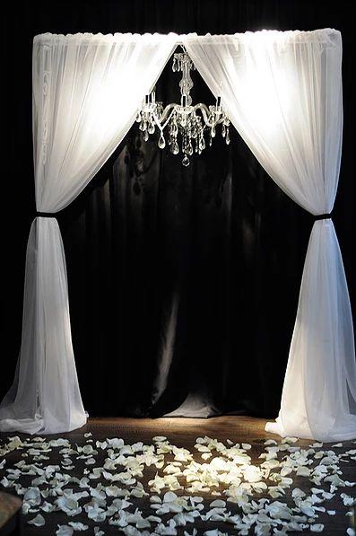 Оформление свадеб в Москве - Чёрно-белая свадьба