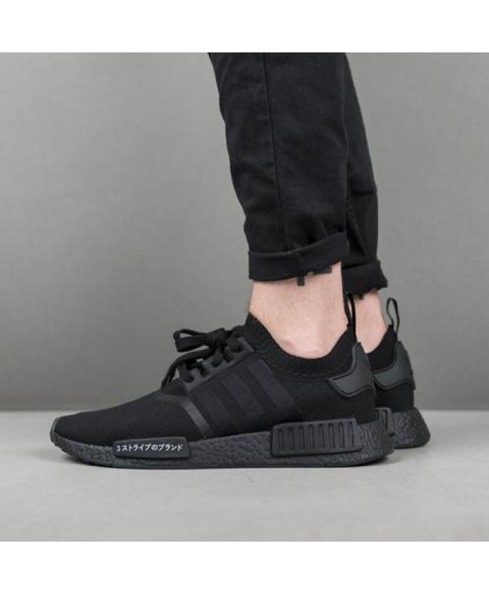 40ced715e2e8b Adidas Originals NMD PK R1 Japan triple black Sneakers Cheap Sale ...