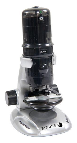 Amoeba Dual Purpose Digital Microscope (Gray)