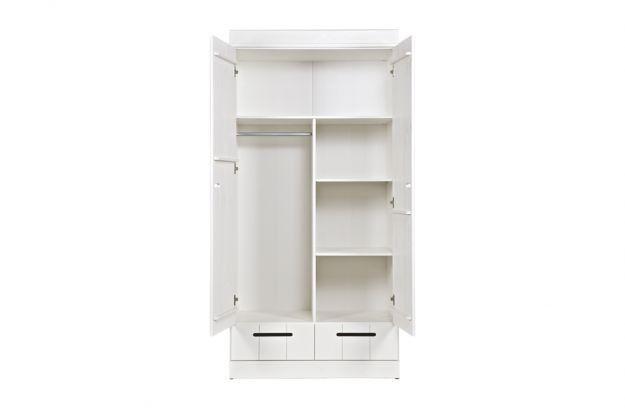 Woood Basic Connect locker 3-deurs kledingkast met lades