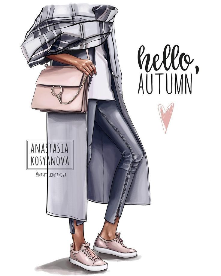 Hallo Herbst! von NK_fashionillustration – #autumn #ilustration #NKfashionillustration