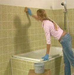 How to paint bathroom tiles - Diy, Lifestyle: Diy Ideas, Diy Paintings Bathroom Tile, Tubs Tile, Paintings Diy Bathroom, Bath Tile, Bathroom Remodel, Bathroom Decor, How To Paintings Bathroom Tile, Diy Paintings Tile