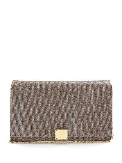 Drap Barcelona - Borse - Accessori - Pochette in tessuto con chiusura a gancio e tracolla gold. Misure 28 x 18 cm. - COPPER - € 69.00