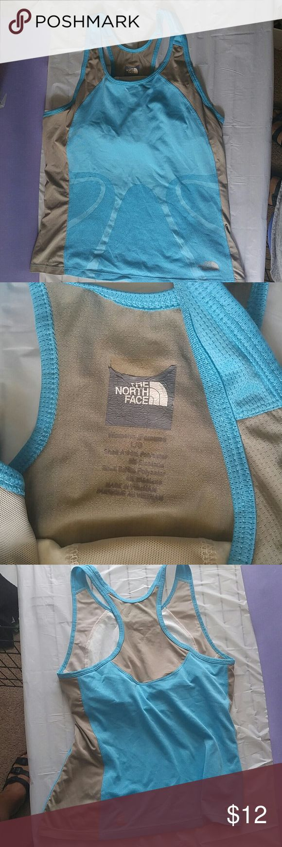 North face tank top Vapor wick.  Unlined bra. North Face Tops Tank Tops