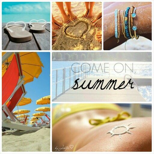 Come on Summer. #Moodboards #Mosaic #Collage by Jeetje♡