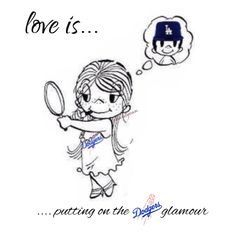 Love is...#Dodgers