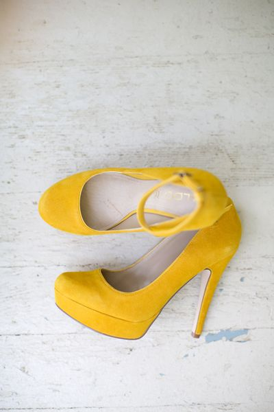 we ❤ this!  moncheribridals.com  #weddingshoes #yellowweddingshoes