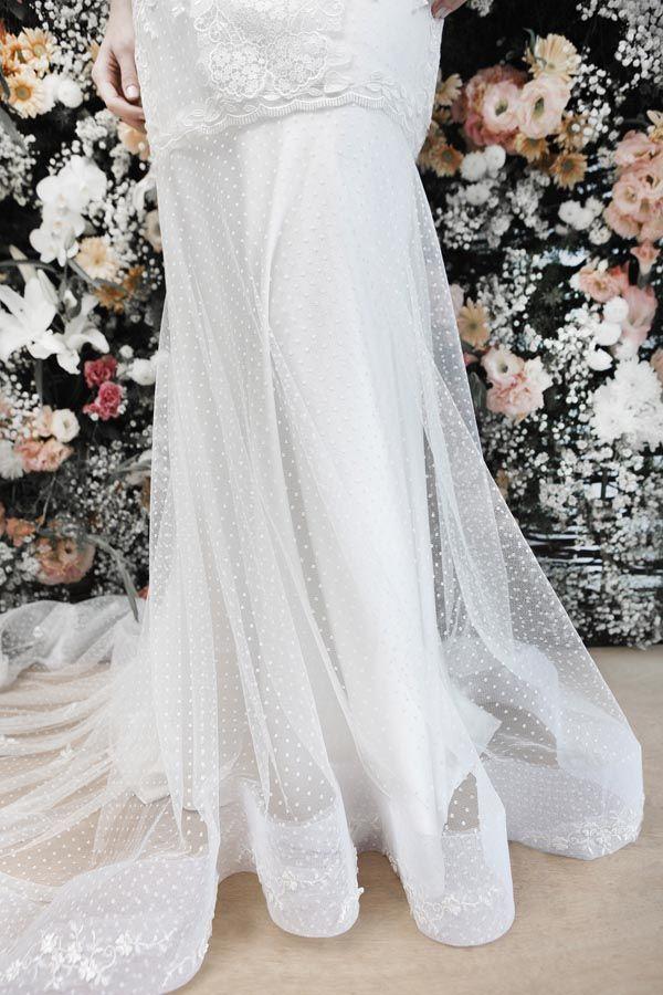 Vestido de noiva renda casamento - Detalhe saia (Estilista: Danielle Benício | Foto: Daniela Nogueira)