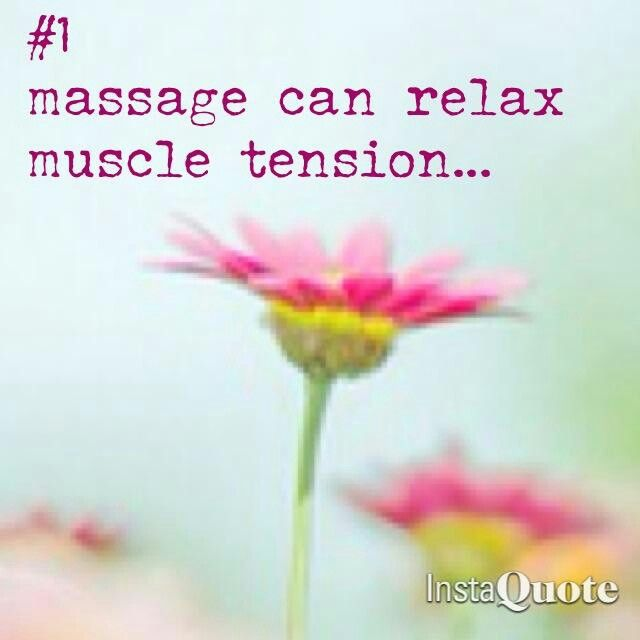 """""""Massage can relax muscle tension.""""  @FIRSTCorvallis #FIRSTCorvallis"""