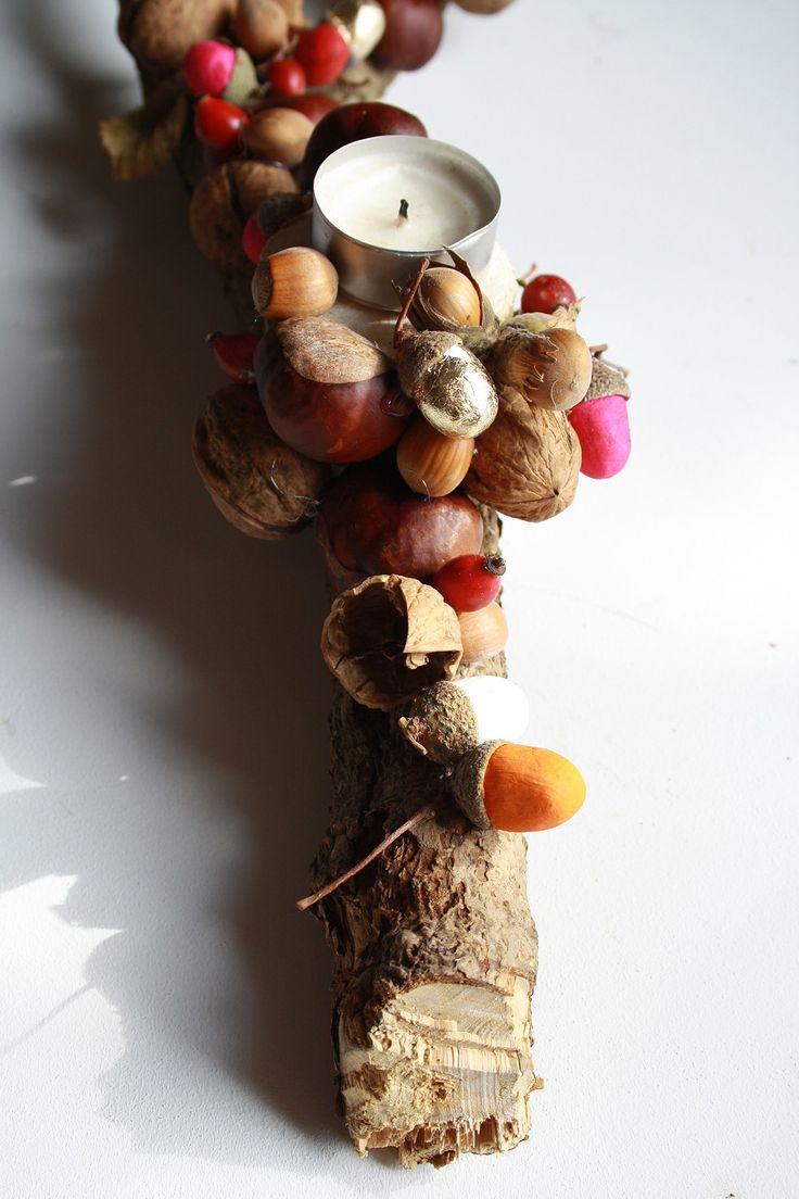 Herbstliche Tischdekoration aus Naturmaterialien. Jana Maiwald-McCarthy für DIY…