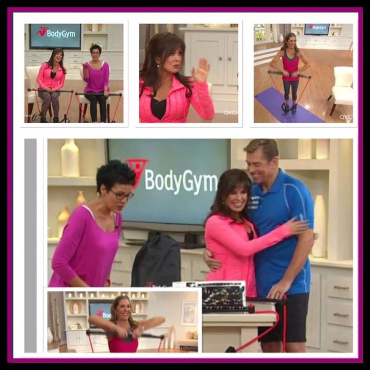 Marie with Steven on QVC - Promoting the body gym
