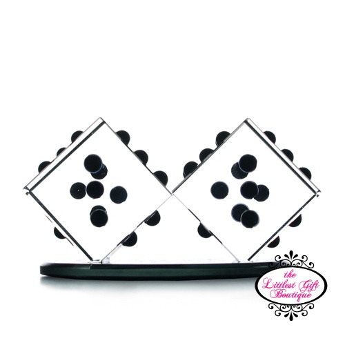 Lucky Dice Crystal Figure Collectible
