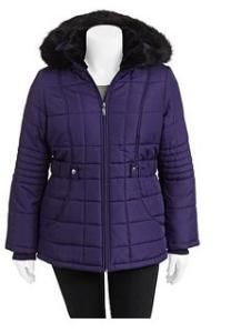Faded Glory Women's Plus Size Puffer Coat Only $23.00 (reg. $32.96)! | Grocery Shop For FREE at The Mart!!