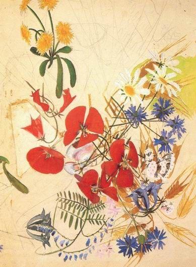 Field flowers, Mikhail Vrubel, 1884