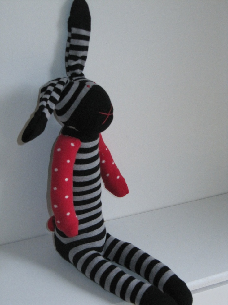 Sock toy by SecretNeighbourhood on Etsy