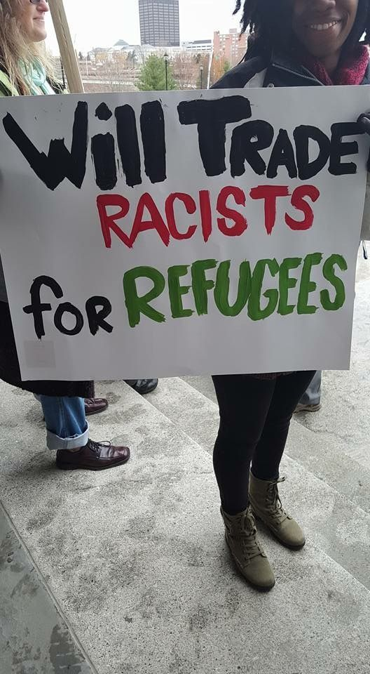 Will trade racists for refugees. #antifa