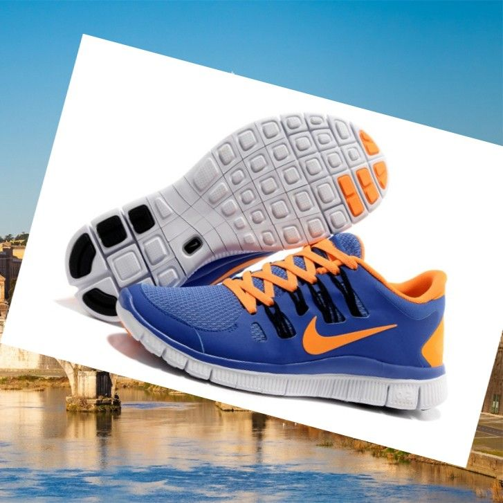 Nike Free Run 5.0 V2 Uomini Corsa Scarpe Novità Presa Blu Arancione,HOT SALE!
