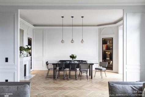 l 39 l gante salle manger d 39 un appartement haussmannien interiors pinterest haussmannien. Black Bedroom Furniture Sets. Home Design Ideas