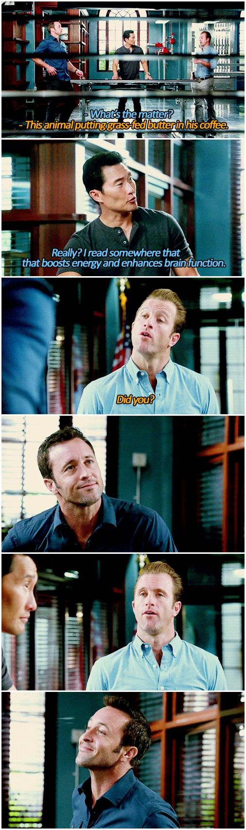 # MCDANNO # 5.15 # CHIN HO KELLY. Love the look on Steve's face