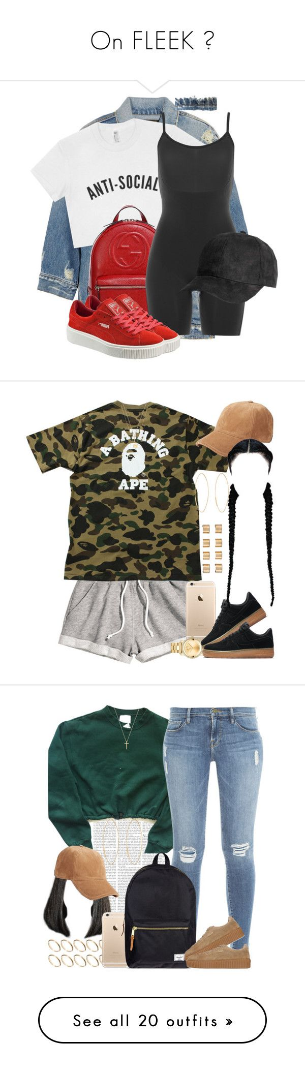 On FLEEK ✨ by poppinqueen ❤ liked on Polyvore featuring R13, Gucci, SPANX, Puma, HM, A BATHING APE, Movado, NIKE, rag bone and Joolz by Martha Calvo